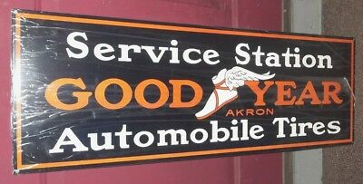 Great Goodyear Winged Foot Tire Sign, Great Graphics, Color and Shine. Heavy.