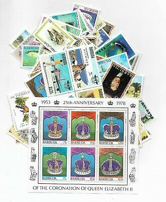 P099/9] 100 different Barbuda packet