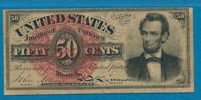 FR.1374 .50 CENT LINCOLN 4th.  ISSUE FRACTIONAL  PMG VF20