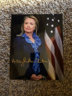 Hillary Rodham Clinton signed autographed Photo Book AUTO