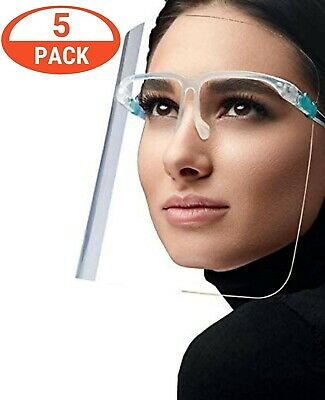 5 pack 2Frame full face protective face shield reusable safety mask ship from US