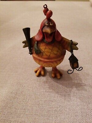 Chicken Figurine Resin Statue Farm Decor Country