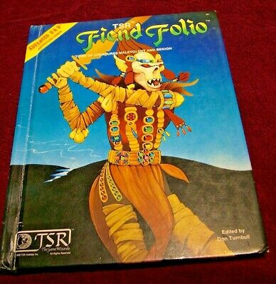 FIEND FOLIO First Edition 1981 Advanced Dungeons & Dragons TSR Turnbull AD&D