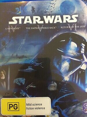 STAR WARS: THE ORIGINAL TRILOGY (Episodes IV, V, VI)- 3 x BLURAY 2011 AS NEW!