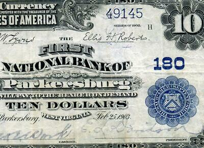 HGR SATURDAY 1902 $10 PARKERSBURG West Virginia ((WANTED)) AWESOME GRADE