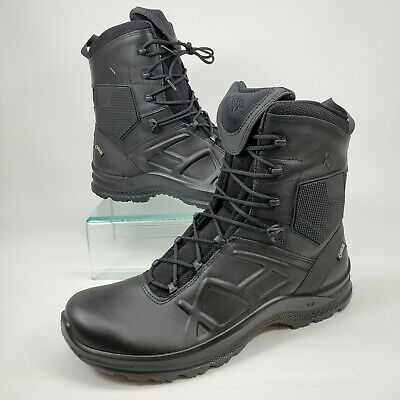 Mens Haix Black Eagle Safety 52 Mid Waterproof Leather Boots Wide 620006 Black 6