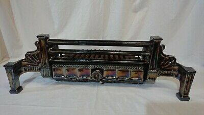 Cast iron Fire Place - Grate + basket - Art Deco 1920's 1930's burnished design