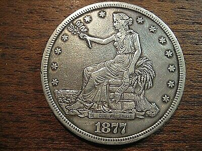 1877 S   Silver Trade Dollar Liberty Seated  Better Coin  *  Must See
