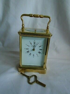 French L'epee Repeater Carriage Clock In Good Working Order + Key