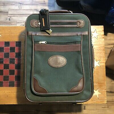 Orvis Rolling Carry On Wheeled Luggage Suitcase Green 18x14x6