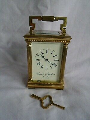 Vintage Corinthian Charles Frodsham  8 Day Timepiece Carriage Clock In Gwo +Key