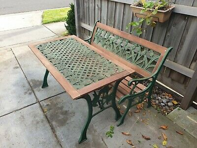 Cast Iron Table And Bench Seat