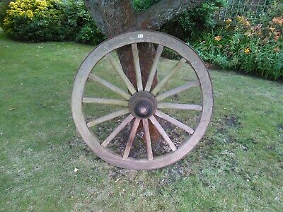 A Large Antique Wooden Cart/Wagon Wheel - Size 4Ft, (48 Inch, 122 Cm)