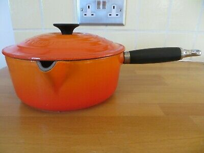 Le Creuset Cast Iron Sauce Pan (20) Volcanic Orange