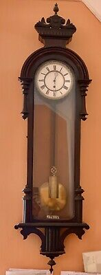 Antique Rare Vienna Regulator 30 Day Wall Clock