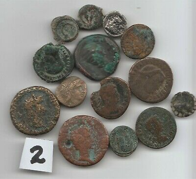 #2  Here is a Very Interesting Lot of 14 Ancient Coins ????? U I D NO RESERVE