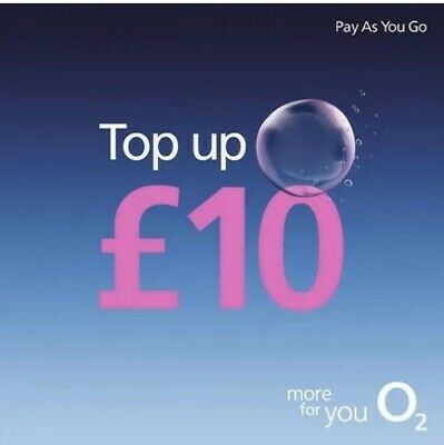 20 O2 Top-Up Voucher (£10) / brand new & unused
