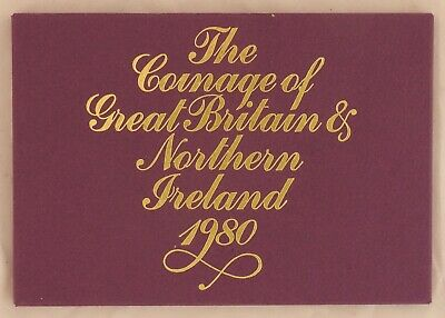 1980 Royal Mint Proof Set Coinage of Great Britain & Northern Island