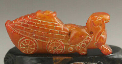 Old Chinese natural jade hand-carved horse pendant