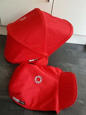 Bugaboo donkey red extandable hood and apron.  Fabric only!