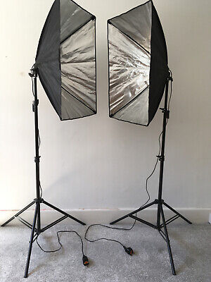 2 Large Size Softbox Photography Studio Lighting Kits with Light Stand 2m Height