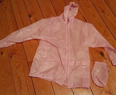 Girls 8-10 Years? Carry/Travel Thin Pink Rain Coat in a Bag, Ideal for School