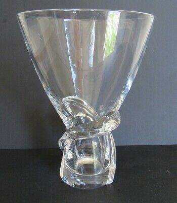 Steuben Vase - Signed - Atomic Age Design - Art Moderne