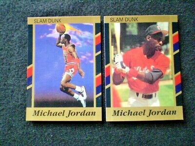 Michael Jordan 2 Cards 1990 Slam Dunk Cards #4 And #6 In Nrmt+++Condition