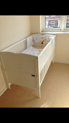 White Tatty Teddy Baby Child Cot Bed