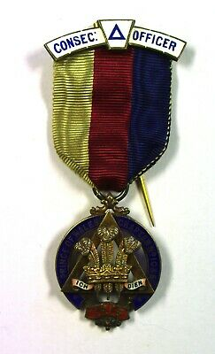 Masonic jewel: Consecrating Officer Prince of Wales Chap. No.1035 (1915, WLancs)