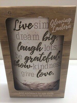 Live Simply Light Up Free Standing Colour Changing Glowing Lanterns