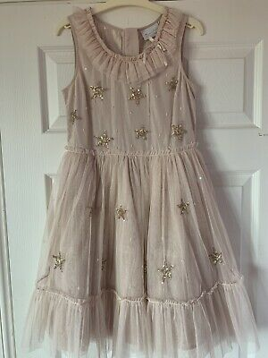 Next Signature Girls Dusky Pink Tulle Dress Age 10