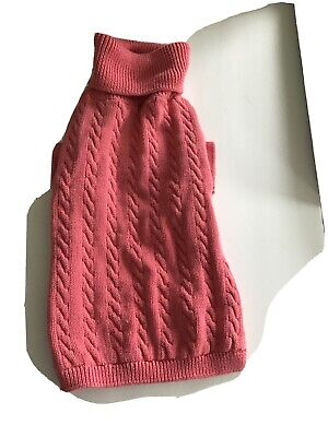 Coral Knit Dog Sweater Size M