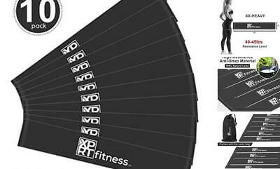 XPRT Fitness Resistance Loop Bands Exercise Resistance Bands for Black XX-Heavy