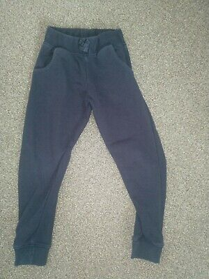 girls navy blue school pe jogging bottoms. Age 6 years
