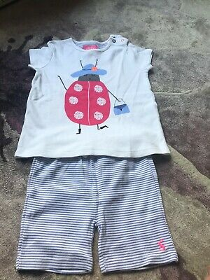 joules baby Girls t-shirt and shorts set 18-24mths BN without tags