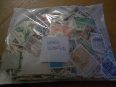 1000+ ALL OFF PAPER WORLD STAMPS -  £5.00  with FREE P+P!            m