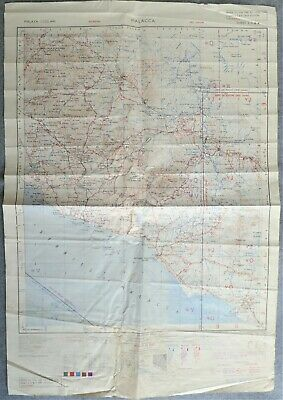 WWII 1944 restricted service sheet map of Malacca