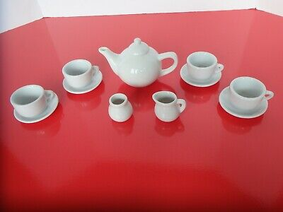 Miniature  White Porcelain China  Tea Set.
