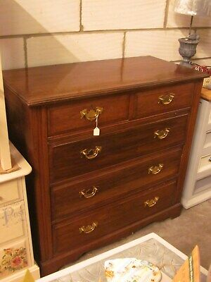 Antique Edwardian 5 Drawers - 2 over 3 chest of drawers