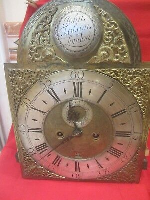 John Tolson  Clock Face And Works London  12 X 16 3/4