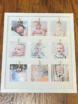 """Pearhead Baby Clothespin Collage 14"""" X 16"""" Frame - White"""