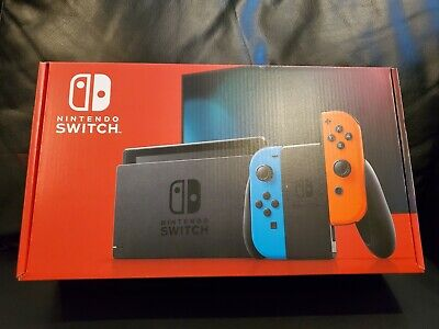 Nintendo Switch Neon Red and Neon Blue Joy-Con Console Version 2 New