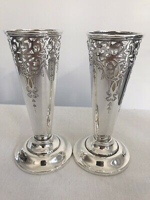 A Pair of Tiffany & Co Silver Vases - Details soon!