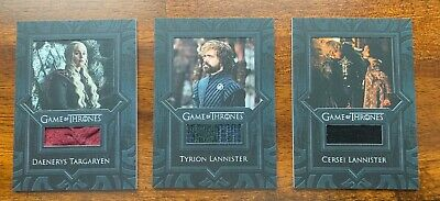 Game of Thrones Card Lot 3 Relic Cards - Daenerys, Cersei, Tyrion Inflexions
