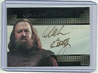 Game of Thrones Valyrian Steel Mark Addy Autograph Signed Card - RARE