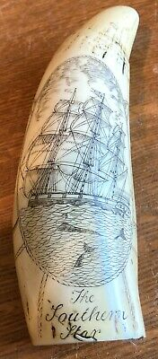 Resin Scrimshaw-President Lincoln, Other Side The Southern Star Sailing Ship-Nic
