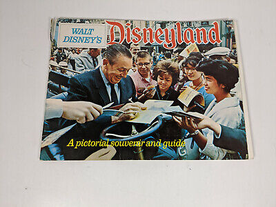 Vintage 1963 Walt Disney's DISNEYLAND A Pictorial Souvenir and Guide Scrapbook