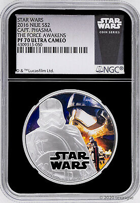 2016 Niue $2 Star Wars: The Force Awakens Captain Phasma Silver Coin NGC PF70