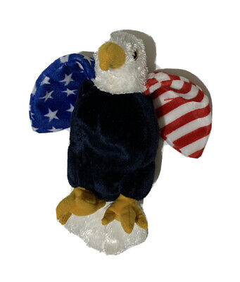 NEW with tags Ty Beanie Buddies Buddy Soar Eagle Red White Blue Patriotic 10.5""